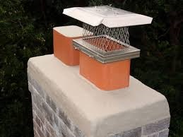 Standard stainless steel chimney cap.